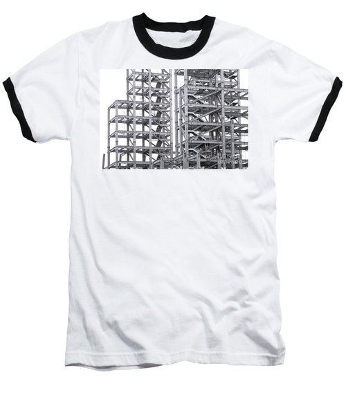 Baseball T-Shirt featuring the photograph Large Scale Construction Project With Steel Girders by Yali Shi