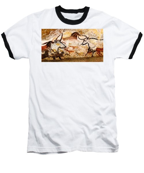 Lascaux Hall Of The Bulls - Deer And Aurochs Baseball T-Shirt