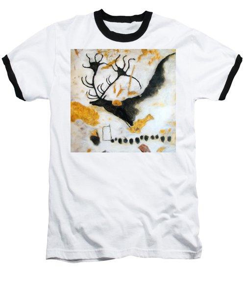 Lascaux Megaceros Deer Baseball T-Shirt