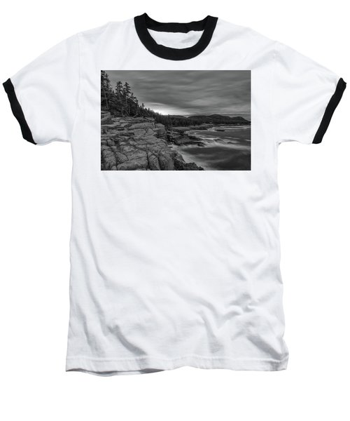 Last Light At Otter Cliff Baseball T-Shirt