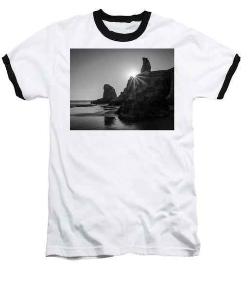 Last Light On The Coast Baseball T-Shirt