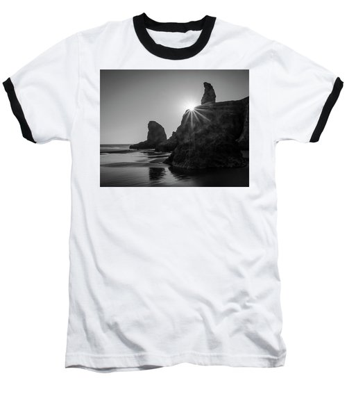 Last Light On The Coast Baseball T-Shirt