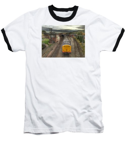 Last Train To Manuel Baseball T-Shirt by RKAB Works