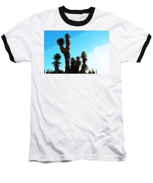 Late Afternoon Cactus Baseball T-Shirt