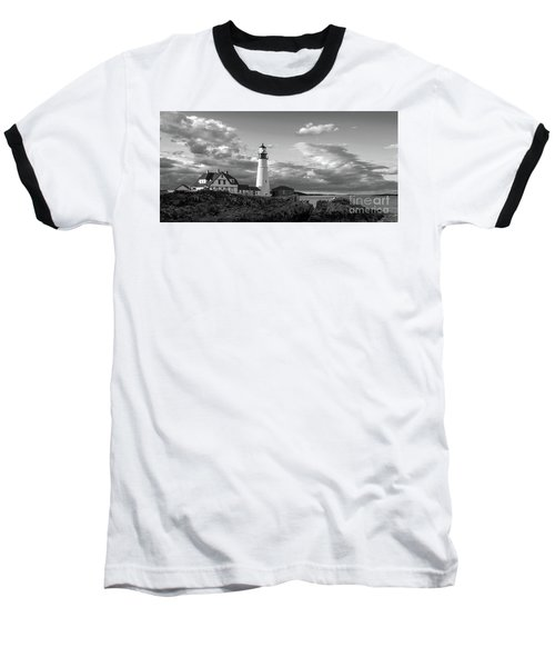 Late Afternoon Clouds, Portland Head Light  -98461 Baseball T-Shirt
