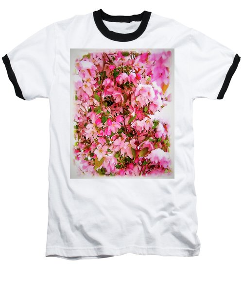 Late Snow Early Flowers Baseball T-Shirt