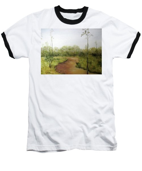 Baseball T-Shirt featuring the painting Late Summer Walk by Roseann Gilmore