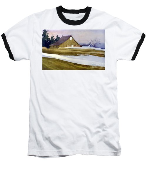 Late Winter Melt Baseball T-Shirt by Donald Maier