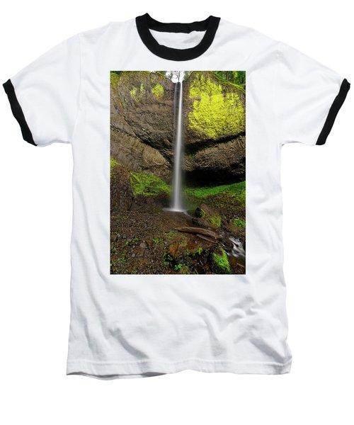 Baseball T-Shirt featuring the photograph Latourell Falls by Jonathan Davison
