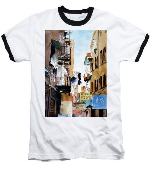 Laundry Day Baseball T-Shirt by Tom Simmons
