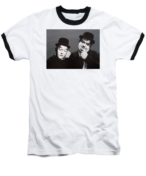 Laurel And Hardy Baseball T-Shirt