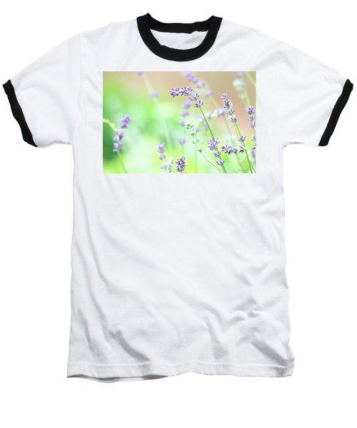Lavender Garden Baseball T-Shirt by Trina Ansel