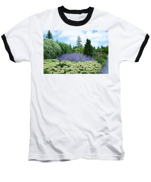 Lavender In The Middle Baseball T-Shirt by Lois Lepisto