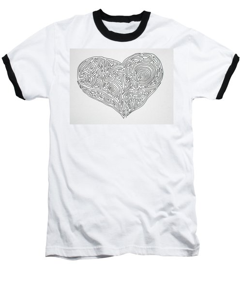 Laying Your Heart On A Line  Baseball T-Shirt