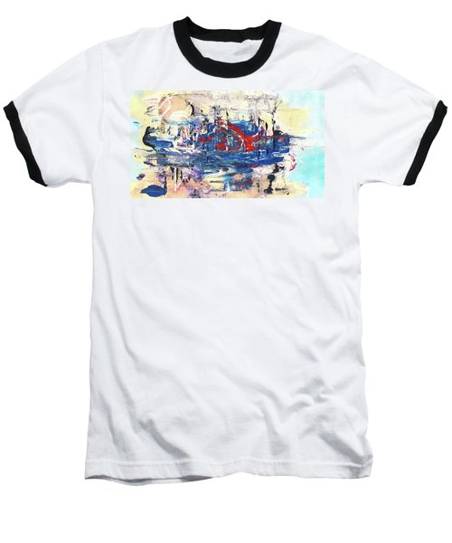Laziness - Large Bright Pastel Abstract Art Baseball T-Shirt