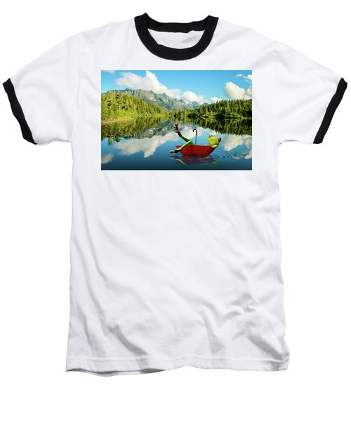 Baseball T-Shirt featuring the digital art Lazy Days by Nathan Wright