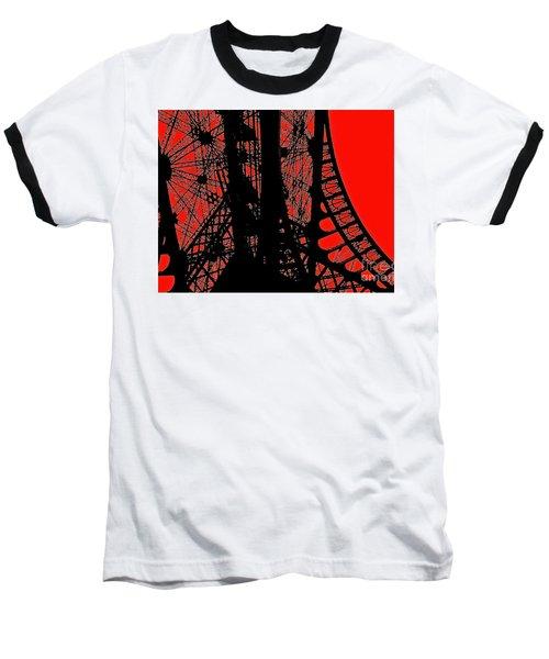 Baseball T-Shirt featuring the photograph Le Rouge Et Le Noir by Danica Radman