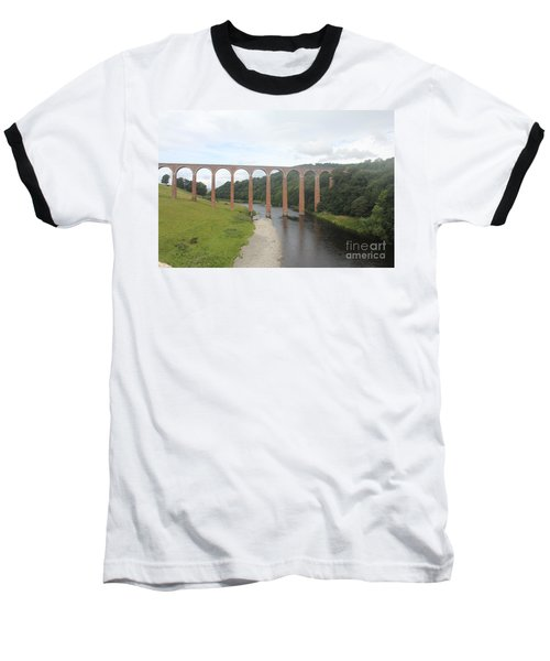 Leaderfoot Viaduct Baseball T-Shirt by David Grant