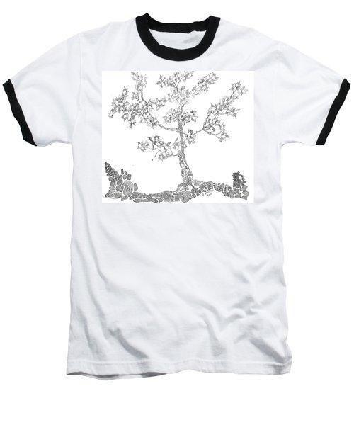 Leafy Jewels Baseball T-Shirt by Regina Valluzzi