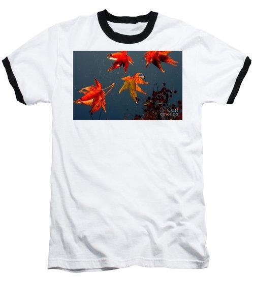 Leaves Falling Down Baseball T-Shirt