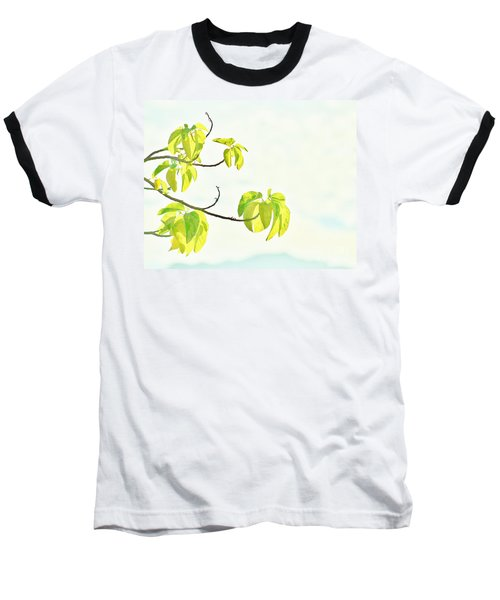 Leaves In The Sun Baseball T-Shirt by Craig Wood