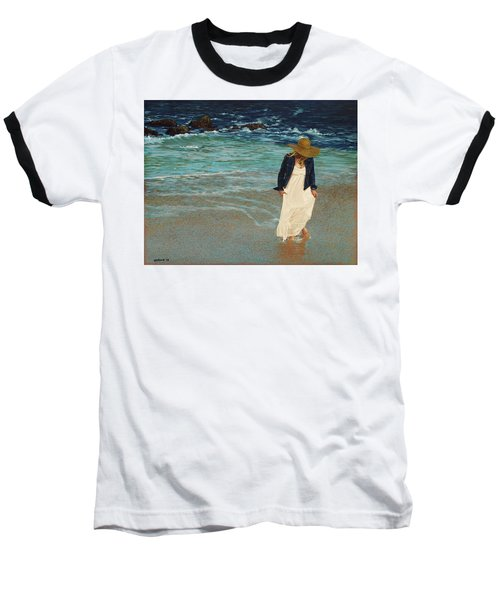 Leaving The Beach Baseball T-Shirt