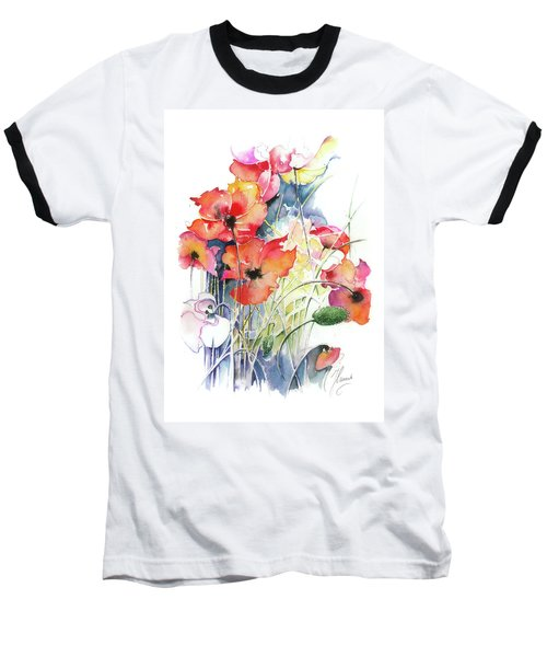 Baseball T-Shirt featuring the painting Leaving The Shadow by Anna Ewa Miarczynska