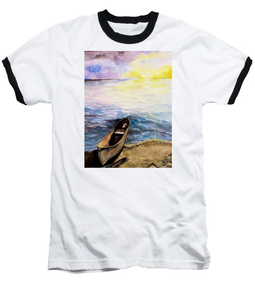 Baseball T-Shirt featuring the painting Left Alone by Lil Taylor