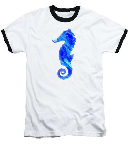 Left Facing Seahorse Bt Baseball T-Shirt