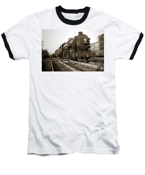 Lehigh Valley Steam Locomotive 431 At Wilkes Barre Pa. 1940s Baseball T-Shirt