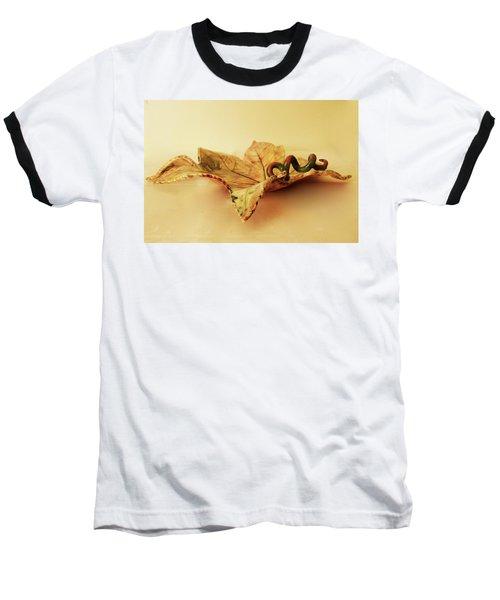 Baseball T-Shirt featuring the photograph Leaf Plate 1 by Itzhak Richter