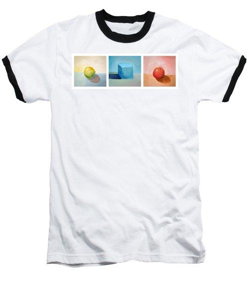 Lemon Cube Sphere Baseball T-Shirt