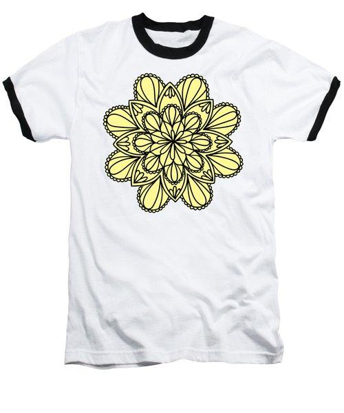 Lemon Lily Mandala Baseball T-Shirt