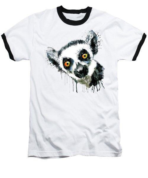 Lemur Head  Baseball T-Shirt