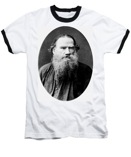Baseball T-Shirt featuring the photograph Leo Tolstoy by Pg Reproductions
