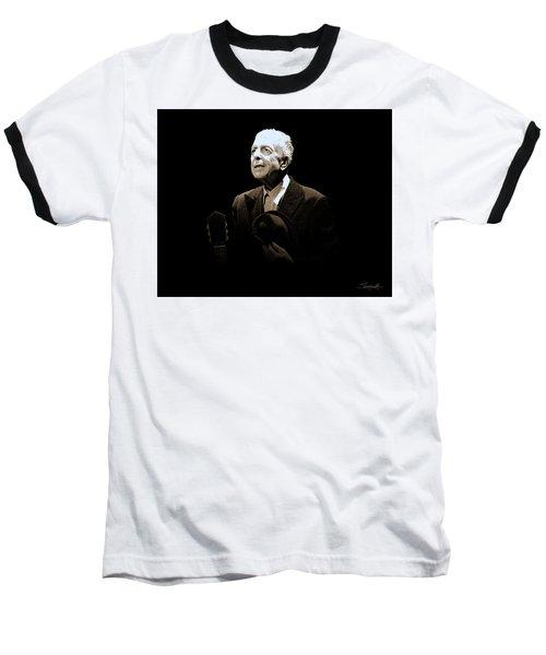 Portrait Of Leonard Cohen Baseball T-Shirt