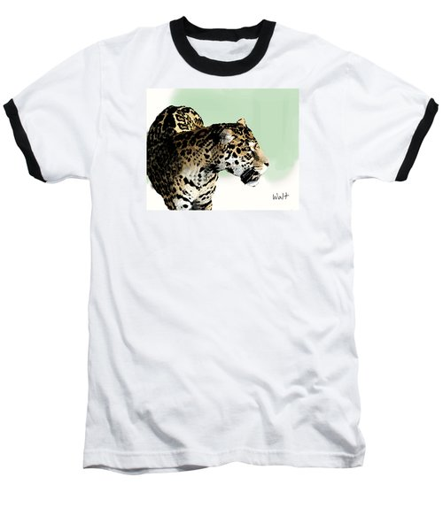 Leopard Baseball T-Shirt by Walter Chamberlain