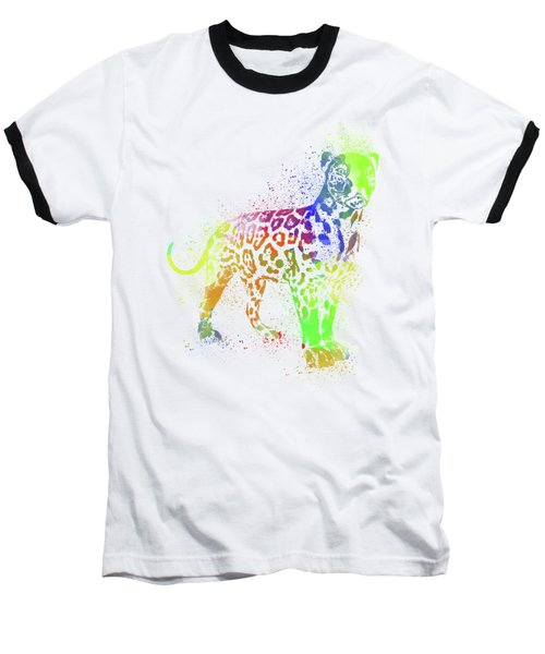 Leopard Watercolor 1 Baseball T-Shirt
