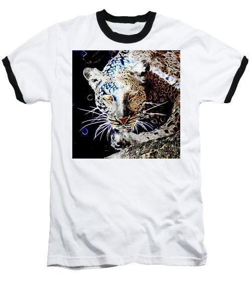 Leopard Baseball T-Shirt by Zedi
