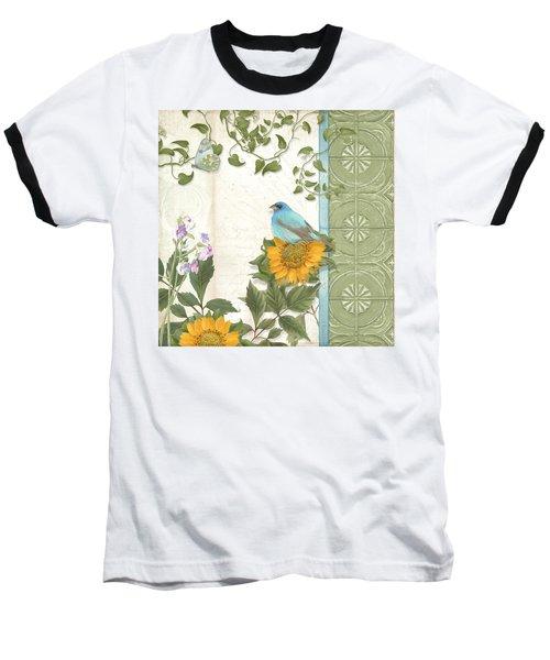 Les Magnifiques Fleurs Iv - Secret Garden Baseball T-Shirt by Audrey Jeanne Roberts