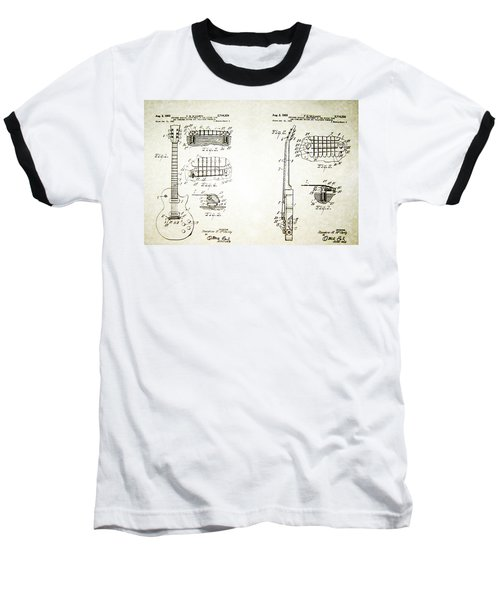 Les Paul Guitar Patent 1955 Baseball T-Shirt