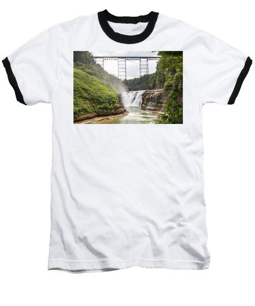 Letchworth Upper Falls Baseball T-Shirt