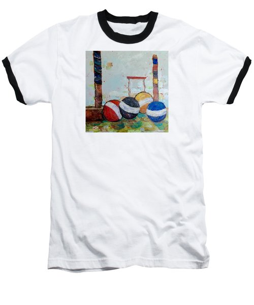 Let's Play Croquet Baseball T-Shirt