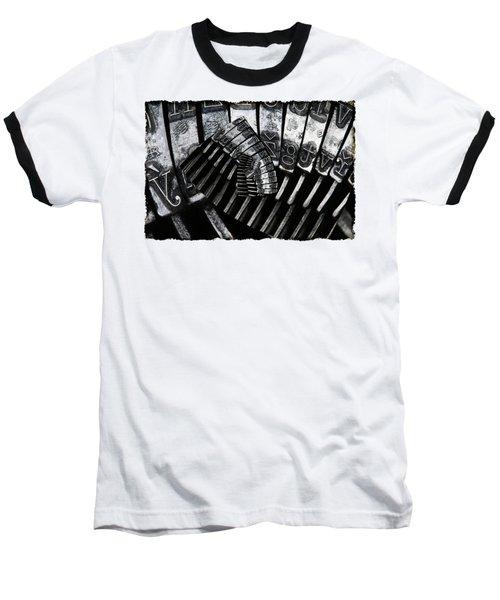 Letters Baseball T-Shirt by Michal Boubin