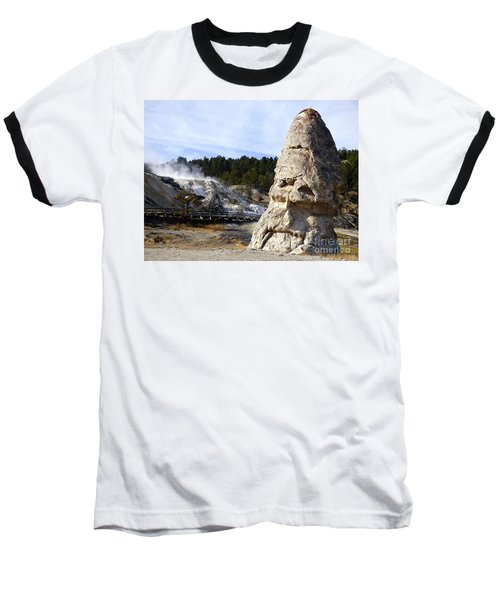 Liberty Cap At Mammoth Hot Springs Baseball T-Shirt