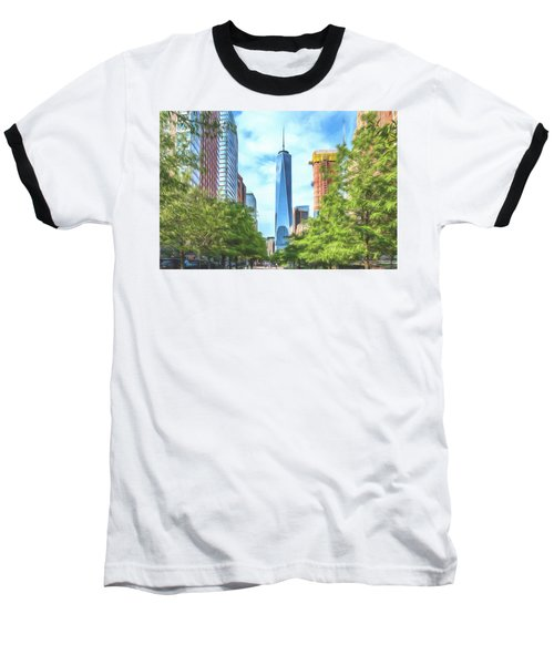 Baseball T-Shirt featuring the photograph Liberty Tower by Theodore Jones