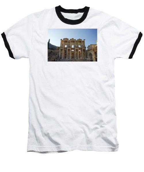 Library Of Ephesus Or Celsus Baseball T-Shirt by Yuri Santin