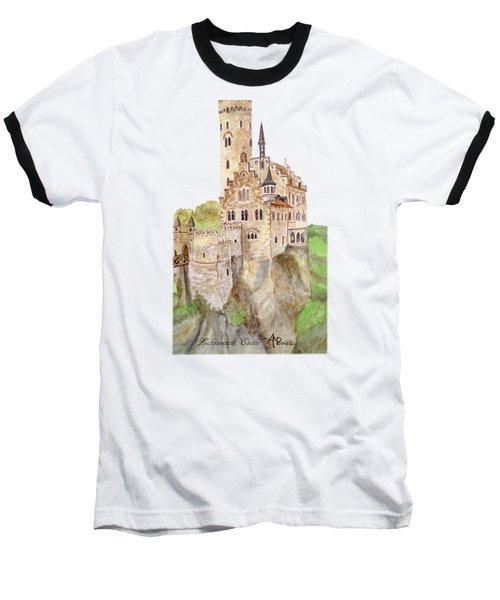 Lichtenstein Castle Baseball T-Shirt by Angeles M Pomata
