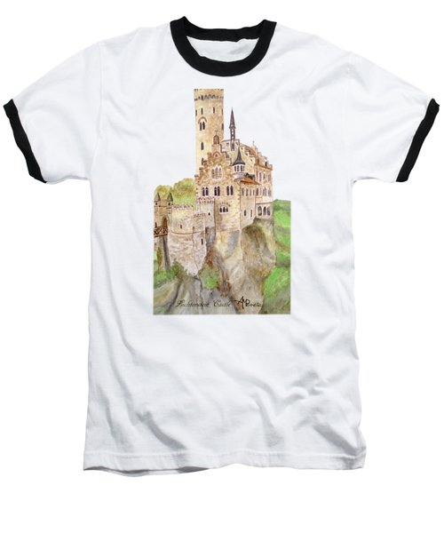 Lichtenstein Castle Baseball T-Shirt