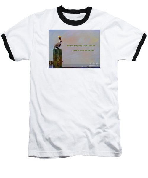 Life Is A Long Song Baseball T-Shirt by John Kolenberg